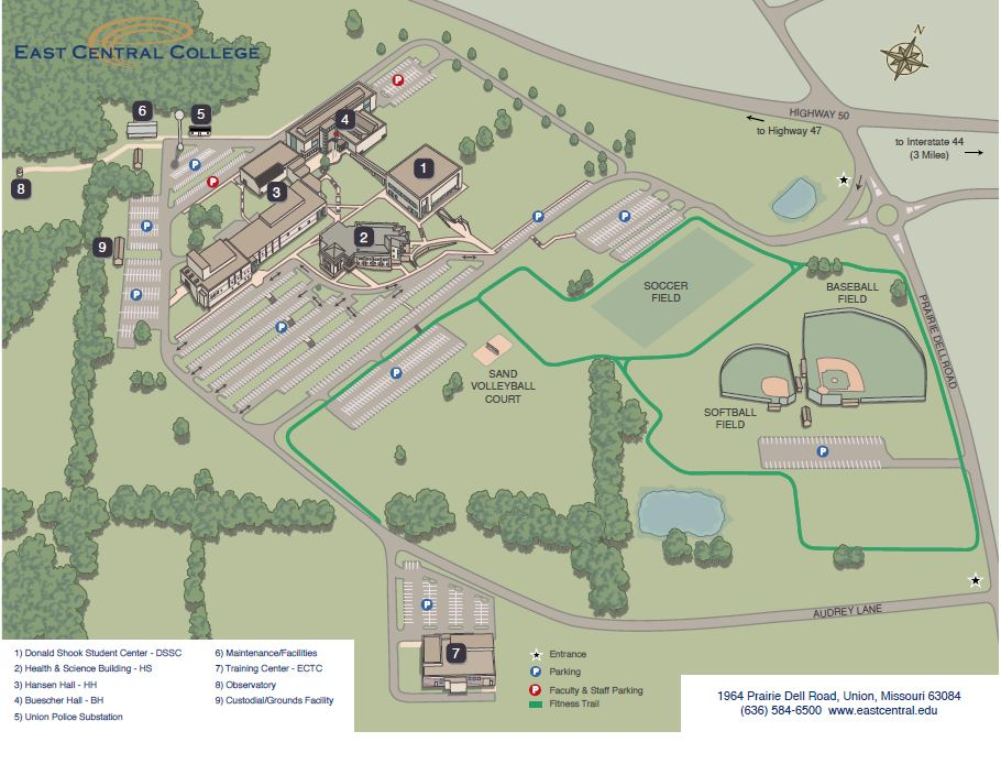 Union County College Campus Map.About The College East Central College Acalog Acms